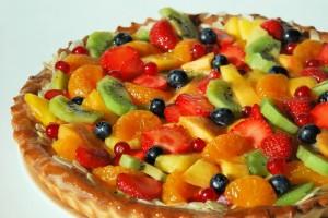 pastel fruta verano